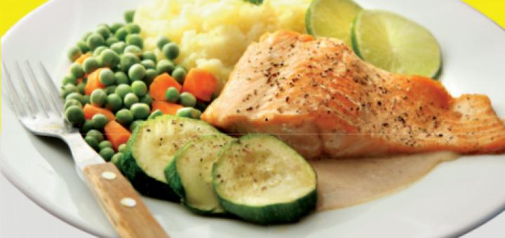 Tervise Arendu Instituut soovitab poole taldrikust täita juurviljade ja salatiga. Allikas: Toitumine.ee