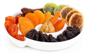 Kuivatatud puuviljades suureneb toitainete kontsentratsioon võrreldes värsketega ligi viis korda.